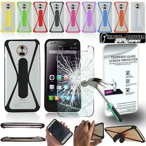 detailed look ad99e e2da2 Details about Tempered Glass Screen Protector + silicone bumper Stand Case  for Elephone Phones