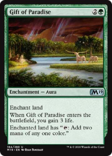 6x Gift of Paradise 184//280 Near Mint Magic 2019 Core Set MTG M19