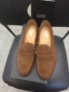 Loake Mens Loafers Slip On Suede Shoes