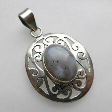 Botswana Agate 925 Sterling Silver Pendant Jewellery Womens Birthday Gifts