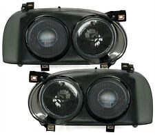 SMOKED TWIN / DOUBLE HEADLIGHTS HEADLAMPS FOR VW GOLF MK3 MK 3 NICE GIFT TWD44