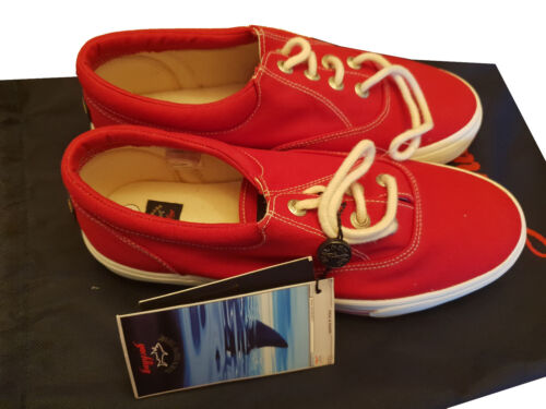 Us Rot 42 Shark amp; 9 Canvas Größe Paul Schuhe Sneaker Yachting Shoes OzU81AqP