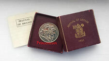 1951 UNC GEORGE VI FESTIVAL OF BRITAIN CORONA CAJA DE MONEDA/