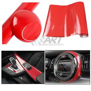 Vinilo-de-fibra-de-carbono-5D-rojo-150cm-x-20cm-acabado-brillo-con-protector