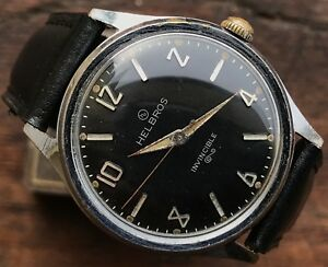 HELBROS-Invincible-vintage-wristwatch-military-style-perfectly-working