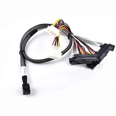 Amphenol 25 Inches Mini SAS SFF-8643 to SFF-8643 Mini SAS HD Data Cable,ORIGINAL