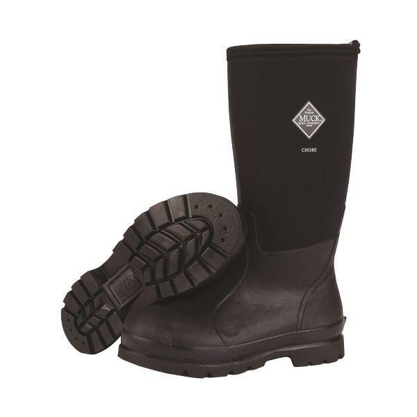 8ef52bfef296a Muck Chh-000a Men s Chore Classic Hi Plain Toe Waterproof Work BOOTS Black 5  for sale online