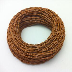 Textilkabel 2 Adrig Geflochten Kupfer Bronze 2x0 75 Design Eu Qualitat 50m Ebay
