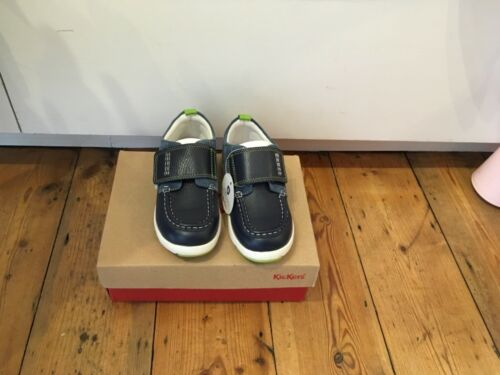 Kickers Boys Blue Boat Shoe