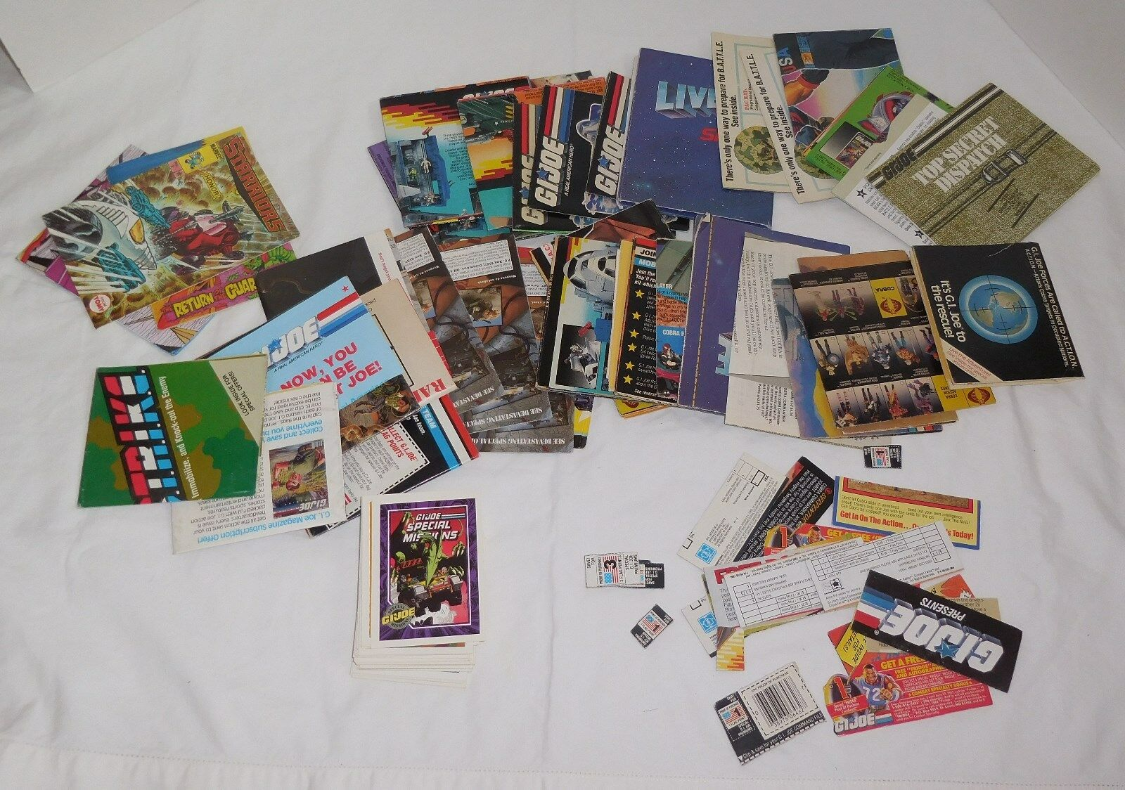 GI JOE ARAH 1980s HASBRO 117 BROCHURES/CATALOGS/FLAG POINTS/MAILAWAY/PROMOS Lot