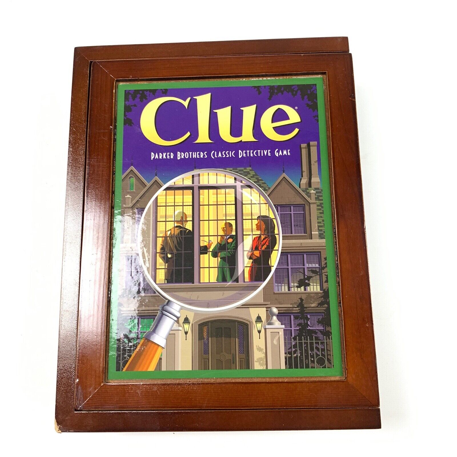 Parker Bredhers Vintage Game Collection Wooden Box Clue Pre-owned New 2010