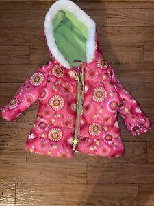 Faux Fur Jacket Green Sz 12M London Fog Baby Boys 18M $60 NWT