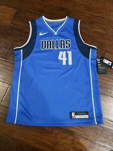 size 40 dea13 9bc53 Details about NIKE YOUTH NBA DALLAS MAVERICKS DIRK NOWITZKI SWINGMAN JERSEY  Size Large...
