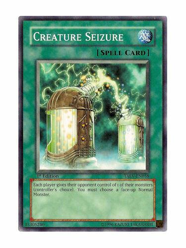 Creature Seizure Mint Near Mint Condition YUGIOH Card