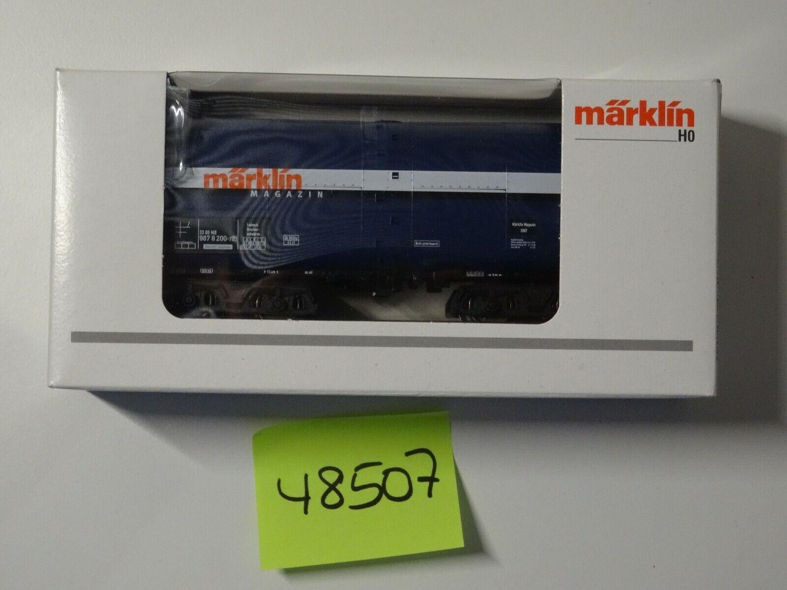 Märklin  HO Art  48507 Insider Jahreswagen 2007       neu OVP  | Elegante und robuste Verpackung
