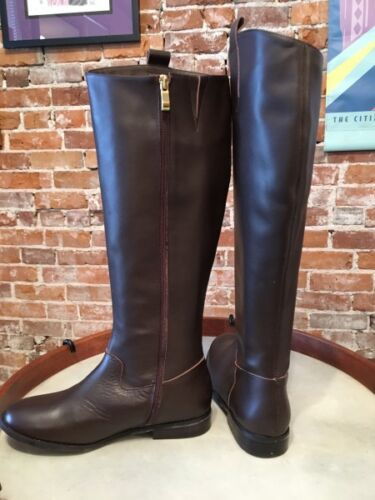 Hot in Hollywood Chocolate Brown Leather Riding Boots New