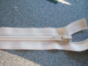 12 In (environ 30.48 Cm) Ouverte Plastique Zip, Neuf Et Beige-afficher Le Titre D'origine Une Performance SupéRieure