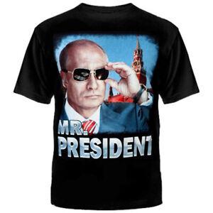 Russian-President-Vladimir-Putin-Black-T-Shirt-Mr-President-Cotton-Tshirt