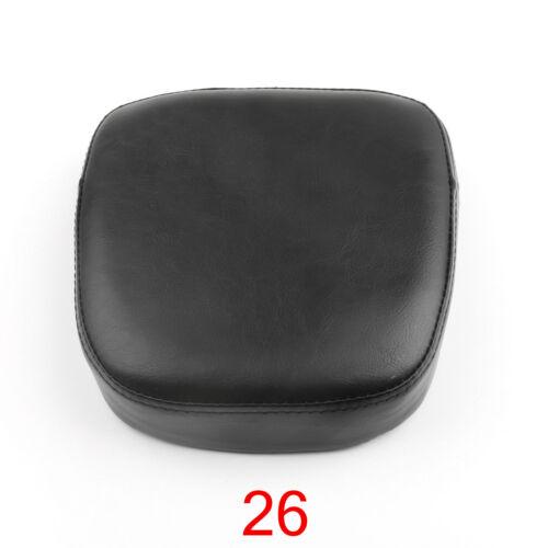 Backrest Sissy Bar Cushion Pad Pour Honda Kawasaki Suzuki Yamaha Touring Noir