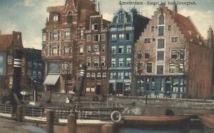 Amsterdam-Netherlands-Singel-bij-het-Droogbak-Used-1911