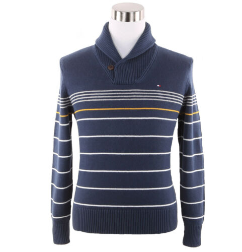 $0 Free Ship Tommy Hilfiger Men/'s Long Sleeve Striped Shawl-Neck Sweater