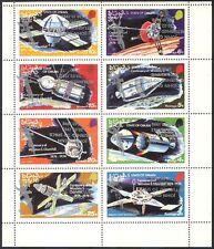 Oman Space/Churchill/John Glenn Return to Space/Silver ERROR o/p 8v sht (b8521)