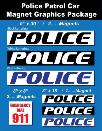 POLICE REFLECTIVE POLICE CAR GRAPHICS//POLICE CAR MAGNETICS// POLICE CAR