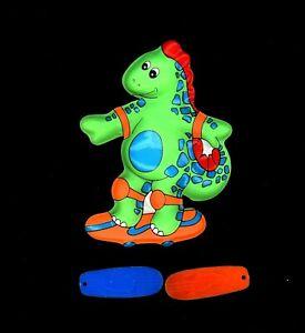 Phenomenal Vintage Happy Birthday Dinosaur Skateboarder Skateboard Pop Top Funny Birthday Cards Online Bapapcheapnameinfo