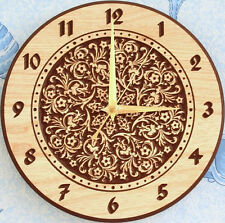New Wall Clock Worlds 5 3d or engrave STL file - Model for CNC Router Machine