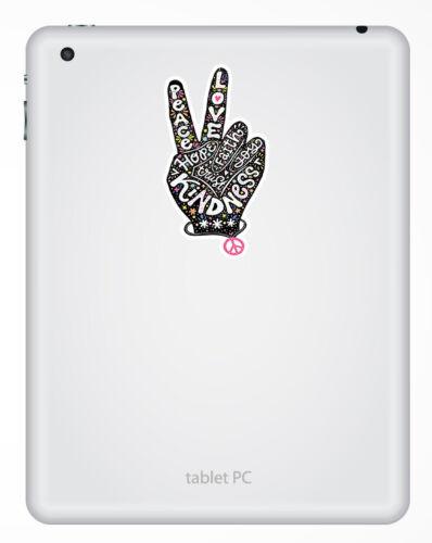 2 X 10cm amabilidad signo de la Paz Amor Pegatinas de Vinilo-Hippy Portátil Adhesivo #34080