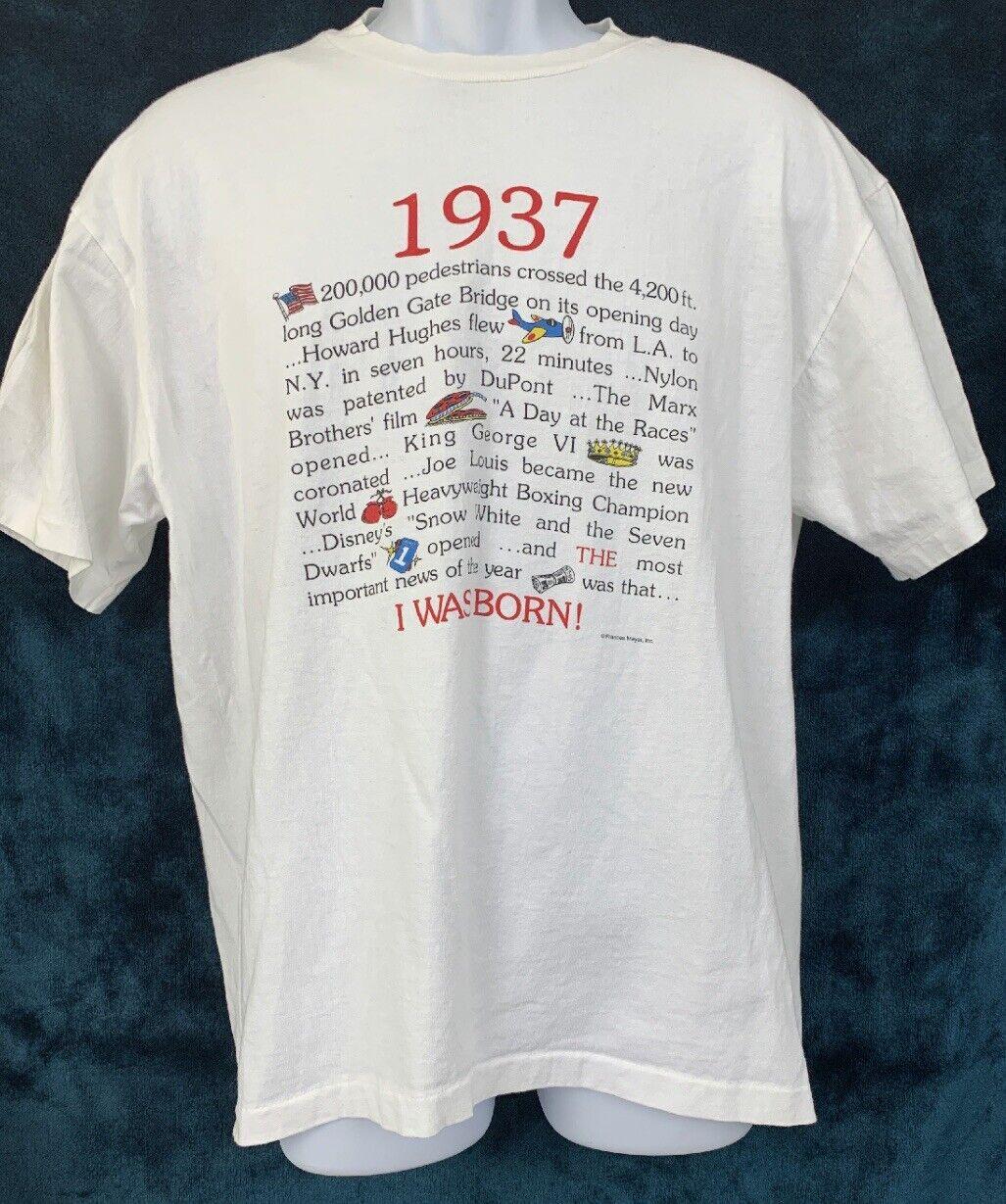 Vintage 1937 Year Vintage T Shirt Hanes Frances M… - image 4