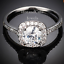 Genuine-Swarovski-Crystal-18k-White-Gold-Plated-Ring-Size-5-6-7-8-9-K-M-N-P-Q-S thumbnail 6