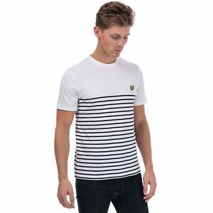 Mens-Lyle-And-Scott-Brenton-Stripe-T-Shirt-In-White-Navy-Crew-Neck