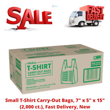 Small T Shirt Carry Out Bags 7 X 5 X 15 2000 Ct Fast Delivery New