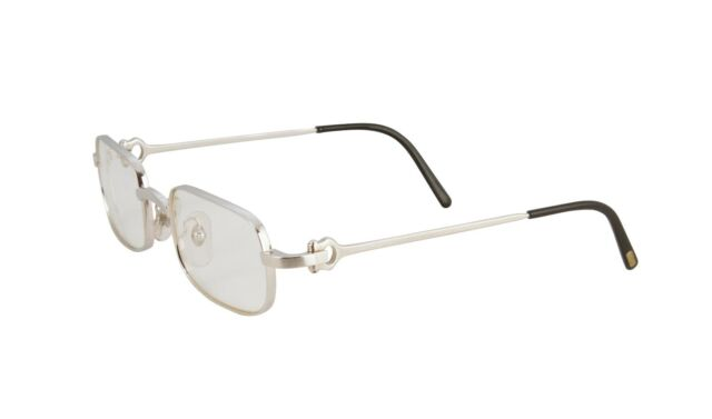 44b943abb0b Cartier Eyeglasses Frames Square Brushed Platinum T8100364 Authentic. +.   1