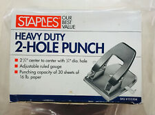 Staples Heavy Duty 2 Hole Punch 14 Hole 2 34 Center 30 Sheets16 Lb Paper