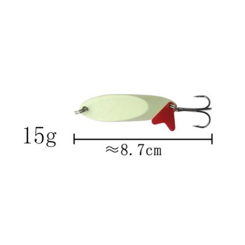 Treble Hook Metal Luminous Sequins Fishing Lure Crank Bait Spoon Spinner