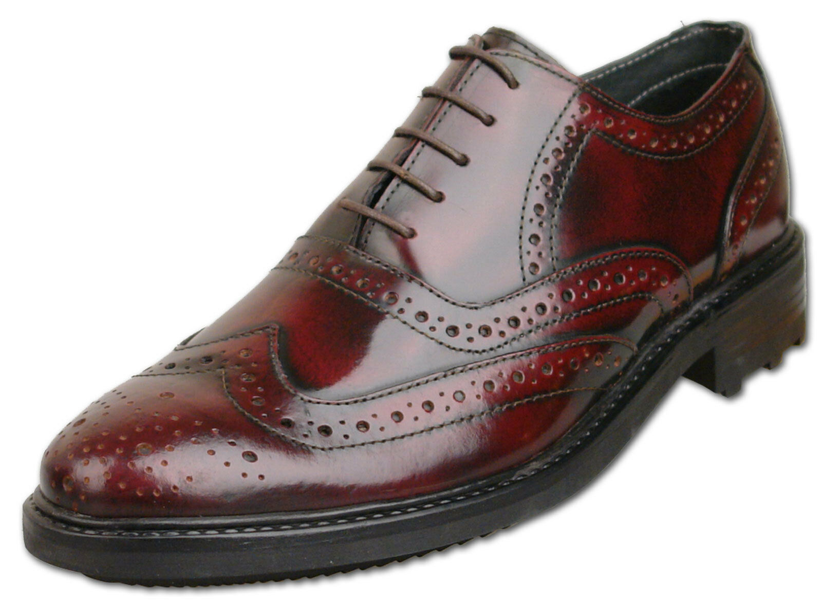 Hombre New Oxblood Leather Lace Talla Up Formal Brogue Zapatos Talla Lace 6 7 8 9 10 11 12 8a1e81
