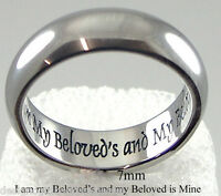 i Am My Beloved Ring Wedding Anniversary Stainless Steel Silver Band