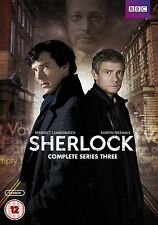 SHERLOCK BBC TV Series Complete Season 3 DVD Collection+Extras Original HOLMES