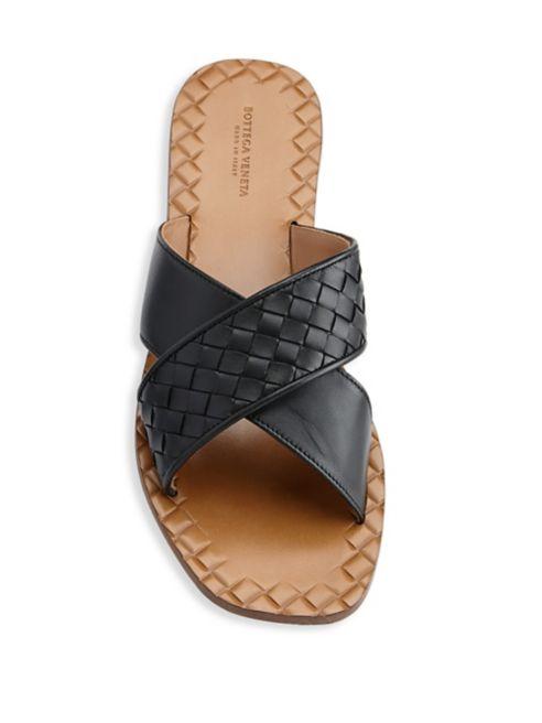 NIB Bottega Veneta Crisscross Flat Sandals NIB SZ 36.5EU   6.5US