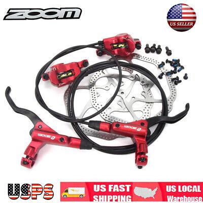 ZOOM MTB Bike Hydraulic Disc Brake Calipers 160mm Bike Disc Brake Rotor 6 Bolts