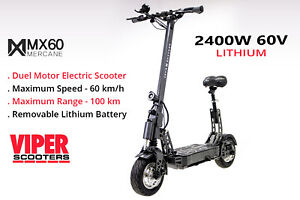 New Mercane Mx60 Smart Electric Scooter 2000w 60km H 100km Range Ebay