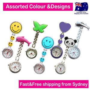 Nurse Watches Assorted Designs Chrome Pendant Pocket Watch for Nurse Pouch Bag