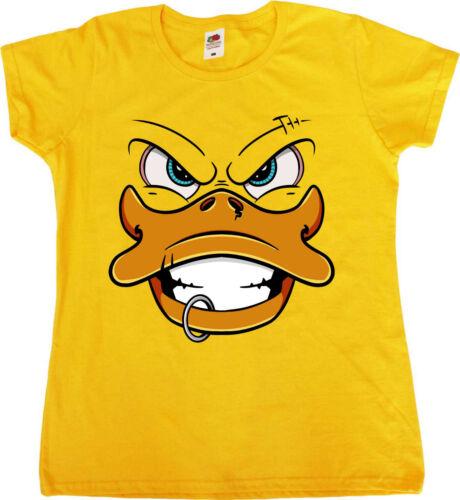 Rubber Duck Punk Rock Grunge Métal Style Femme Compatible avec T-Shirt Humour