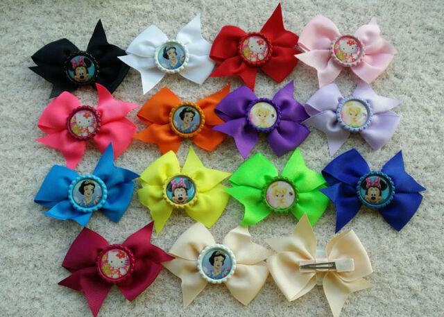 """3.5"""" Baby Girl Toddler Mickey/Kitty/Princess/Tinkerbell Hair Bows Ribbon L2"""