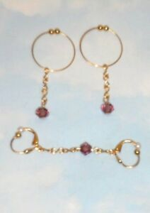 THE NEW GOLD TONE   NON PIERCING NATURAL  GOLD TONE BEAD  NIPPLE RING JEWELRY