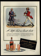 1941 JAMES WATT Condensing Steam Engine Inventor - JOHNNIE WALKER - VINTAGE AD