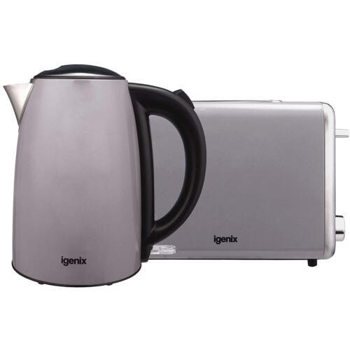 Grey Igenix IGPK24 Two Slice Toaster /& 1.7 Litre Jug Kettle