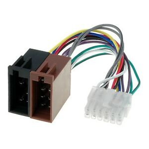 PIONEER Adapter Radio Anschluss Kabel für Auto Radios 12 polig ISO ...